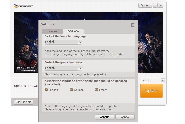 ncsoft launcher fr